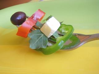 Salad mixed.