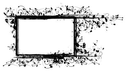 Inked Floral Frame for Your Text or Pictures