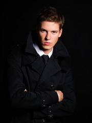 Handsome young male model