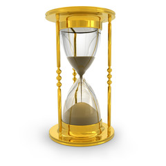 Golden hourglass