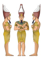 Ancient Egyptian nobility vector
