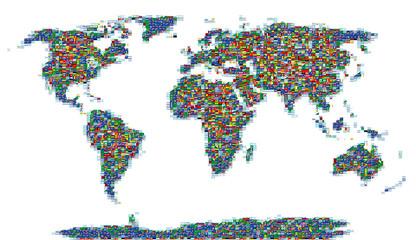 flags mosaic world