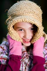 cute kid in floppy hat