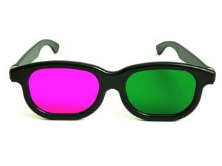 3D-Brille, grün-magenta