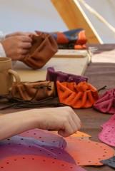 Fabrication de bourse en cuir