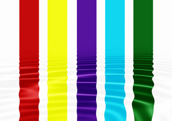 Reflected Colored bands