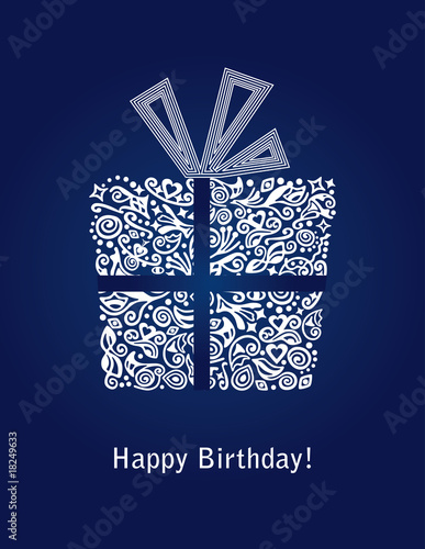 Blue Happy Birthday Card Stock Image And Royalty Free Vector Files