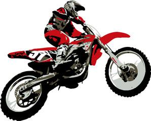 La pose en embrasure Motocyclette rider jumping