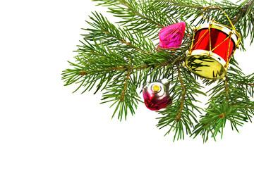 Christmas  fur-tree with toy trinket