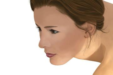 visage feminin