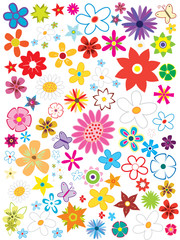 beautiful flower set element