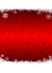 red christmas decoration with snowflakes