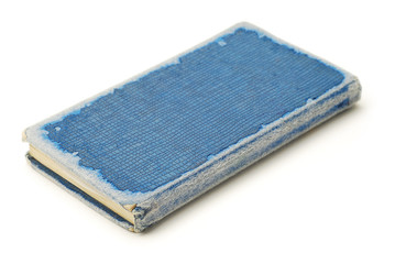 blue old notebook