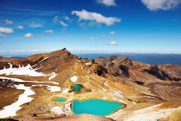 Emerald Lakes, New Zealand Fototapete