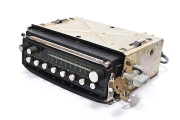 Old auto radio with key