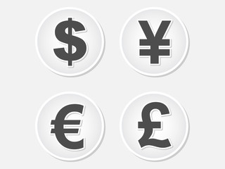 money icons illustration
