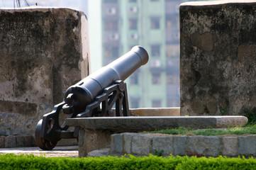 Black melal gun