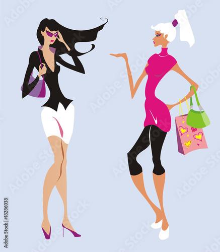 aa9ff3d8a Two fashion women go shopping