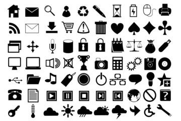 70 icônes vectoriels
