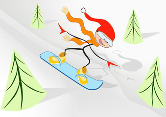 Joy snowboader.