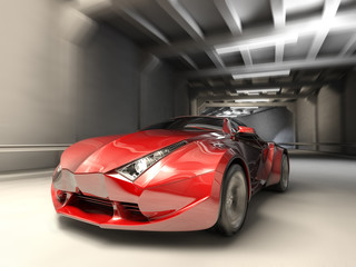 Car in tonnel