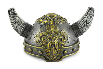 Decorative helm viking with two horns
