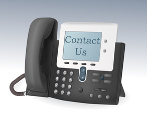 telephone with display vector
