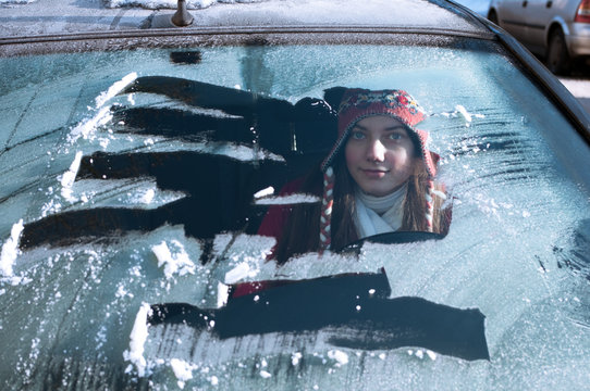 Frau Winter Auto
