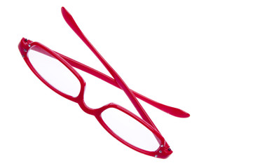 Bright Red Reading Glasses