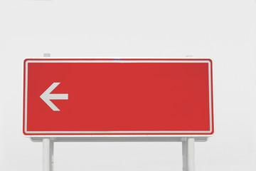 Schild in Rot