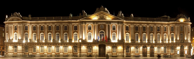 Capitole de Toulouse, de nuit