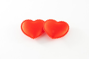 Two reds hearts
