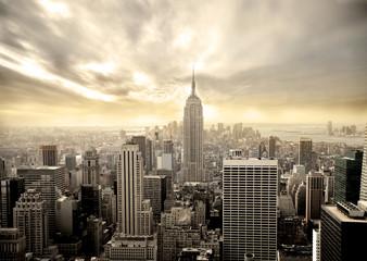 Fond de hotte en verre imprimé New York City manhattan