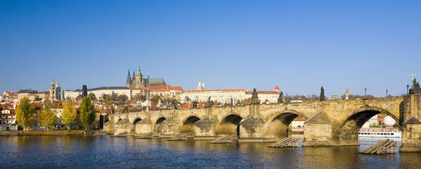 Photo sur Toile Europe Centrale Prague Castle with Charles bridge, Prague, Czech Republic