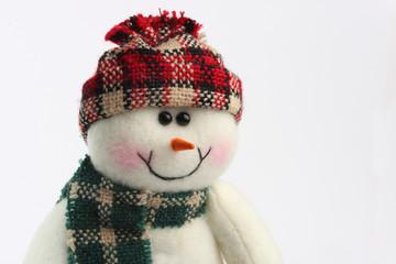 Schneemann mit Muetze und Schal Ausschnitt
