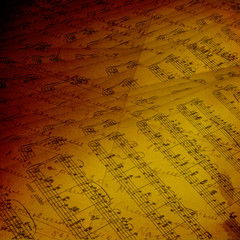 Abstract ancient background with letters and notes in Victorian