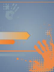 Grafischer Hintergrund mit Handabdrücken