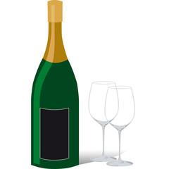 bottiglia,vino,bicchieri
