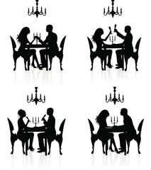 Romantic dinner.