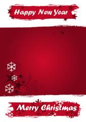 Weihnachtliches Banner im Grunge Design