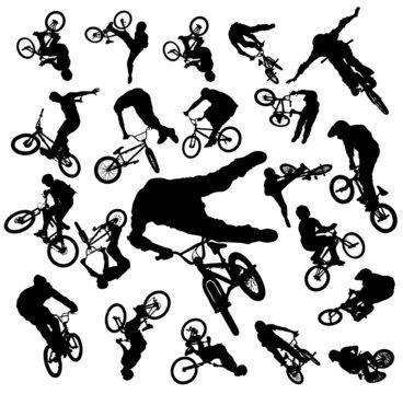 Bike Jumping Silhouettes