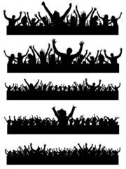 Various audience silhouetes