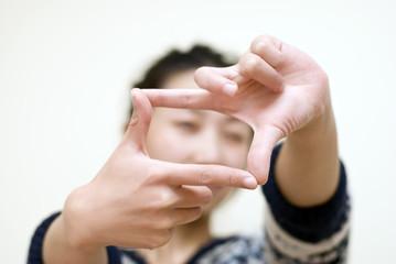 girl's gesture