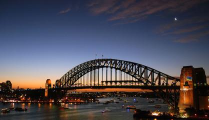 Sydney Harour Bridge at sunset