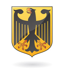 vector glossy coat of arms of germany