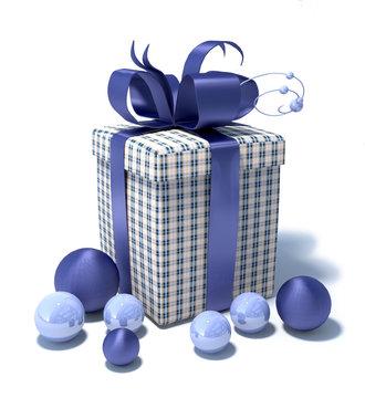 Paquet cadeau bleu