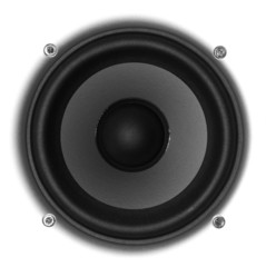 Speaker Isolated on white background.
