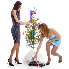 new year tree triming