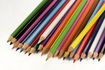 isolated multicolor pencils