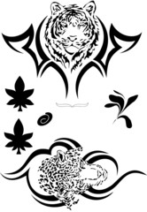 Vector black tatoo